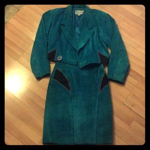 Jackets & Blazers - SUEDE Women's jacket w/matching skirt!